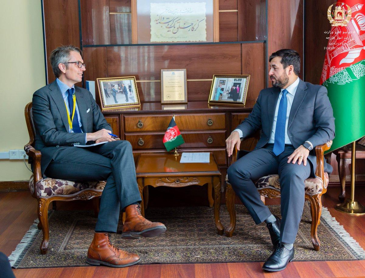 ملاقات معین اداره و منابع  وزارت امور خارجه با س�یر کشور شاهی سویدن مقیم کابل go.mfa.af/5554
