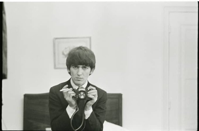 Happy Birthday, with love, to George Harrison. (nice early selfie!)