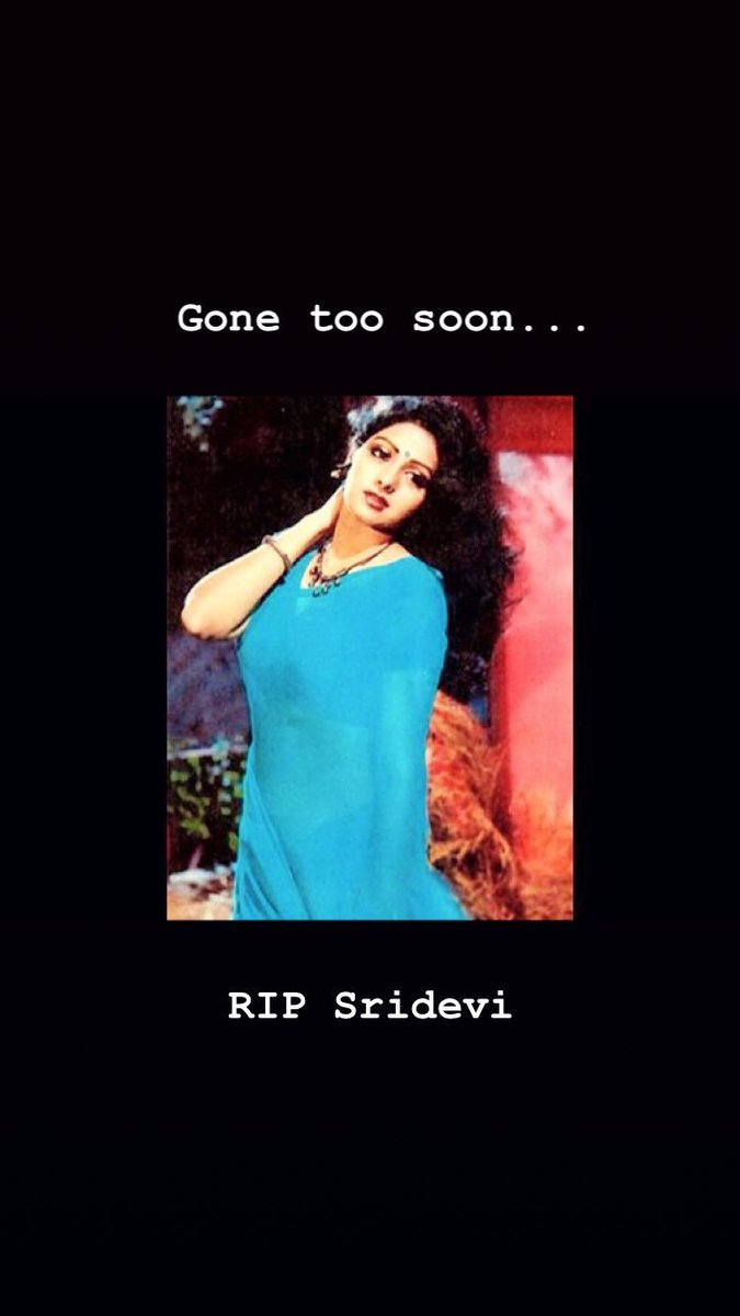 More than 300 films in 50 years... #Sridevi was a true goddess of Indian cinema. We will miss her...