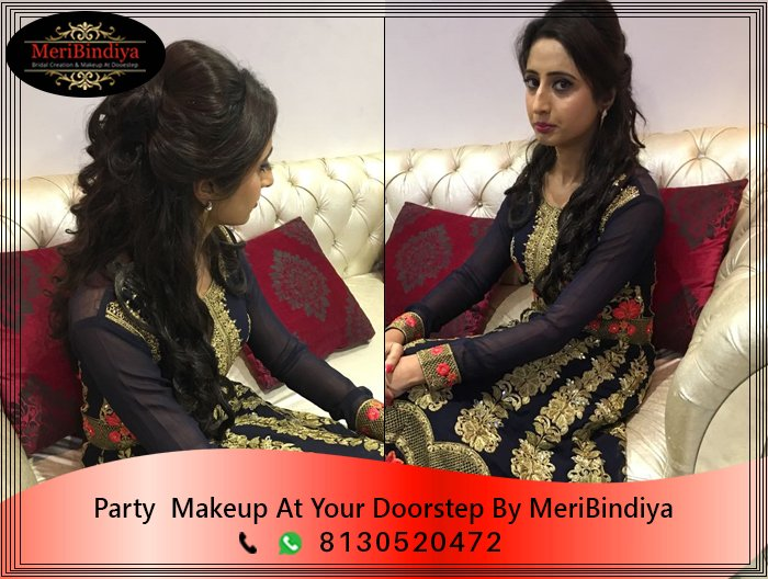 Done By MeriBindiya Party Makeup | Beauty is not about make up it's about what it makes you to be from within. Contact - 8130520472 & info@meribindiya.com ...