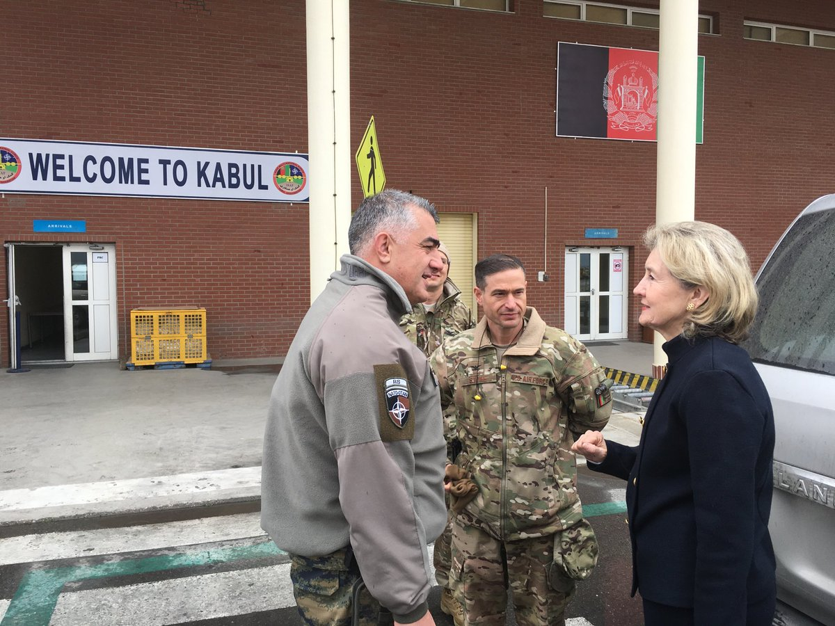 Turkish @NATO Commanders  welcoming @TurkDelNATO @USNATO Ambassadors to Afghanistan . They help train  advise and assist Afghan troops provide security . Doing a great job ! @USAmbNATO @ResoluteSupport
