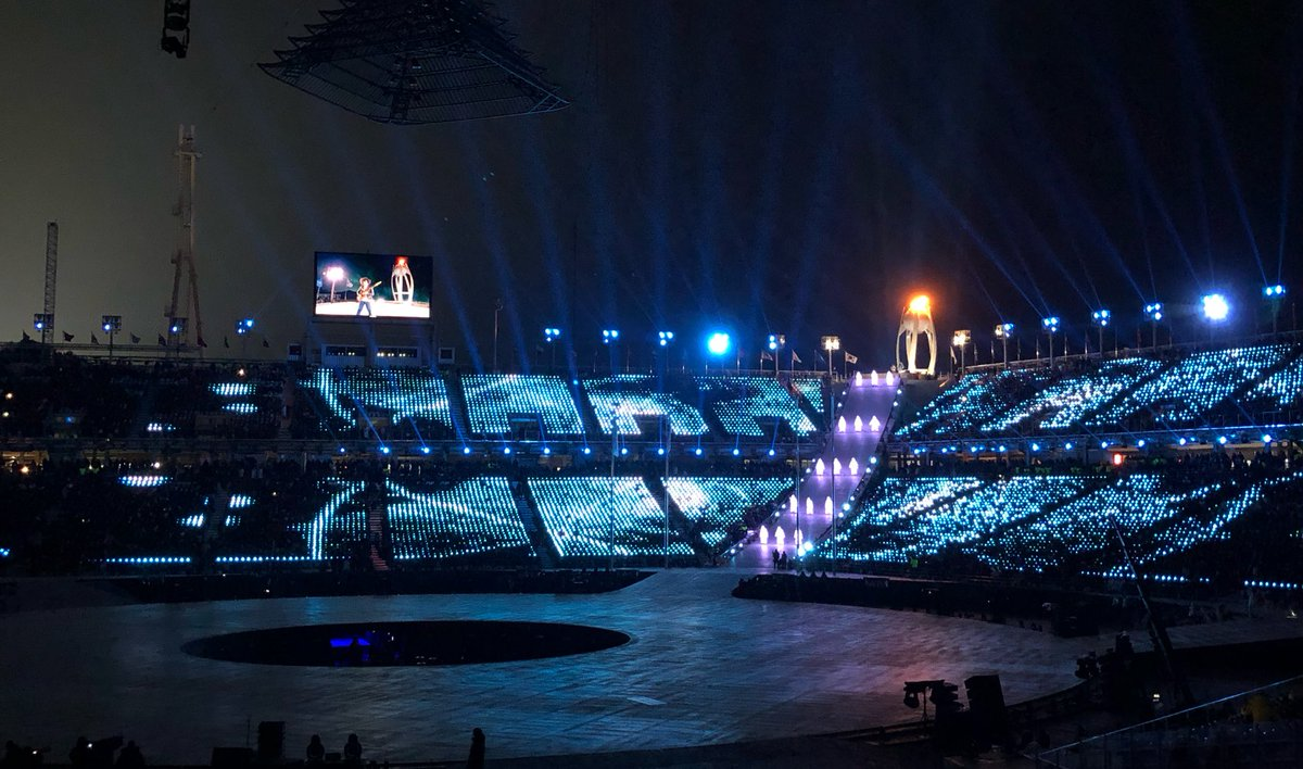 Here we go! #ClosingCeremony is underway...