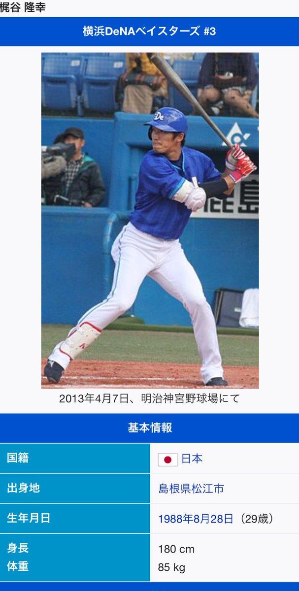 @tgabuishi 記載間違い!笑  梶谷隆幸選手の誕生日は、、、 8月28日です!  皆さん忘れないでね😂