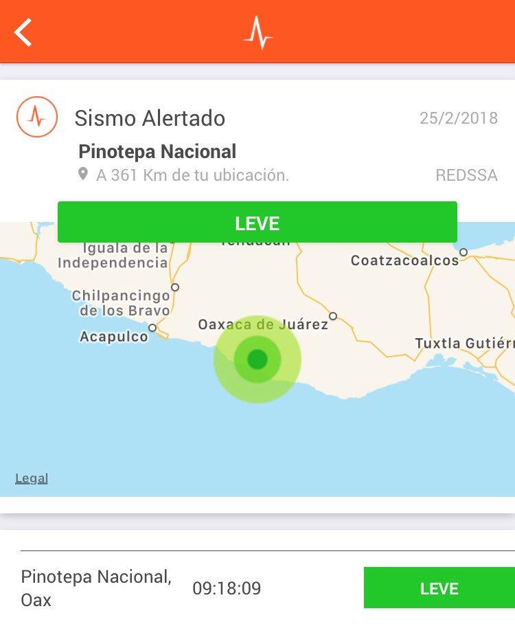 Se registra sismo (réplica) de intensida...