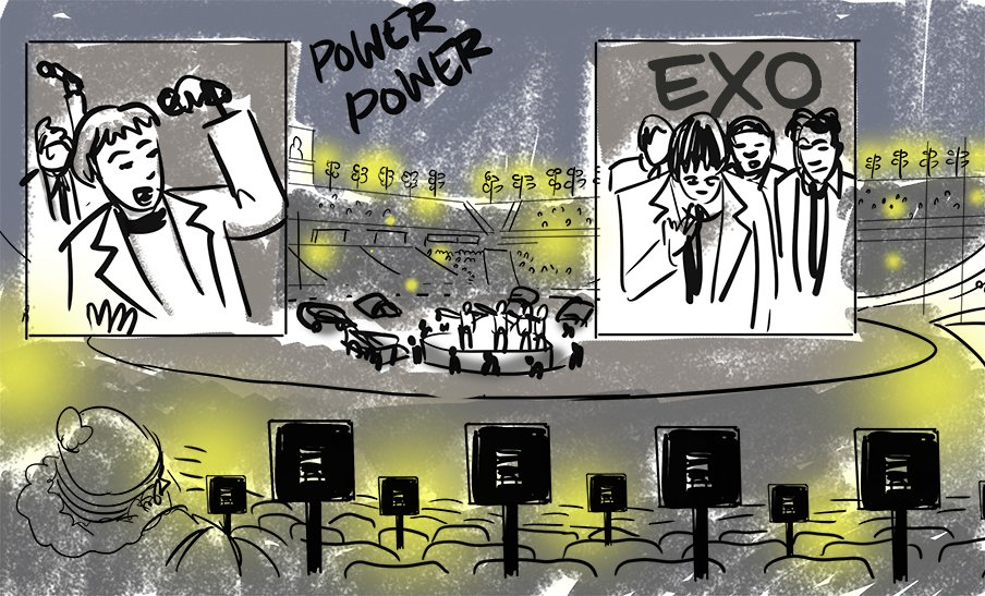 LIVE SKETCH: EXO at Olympic Closing Ceremony https://t.co/jwZ4xOKUft