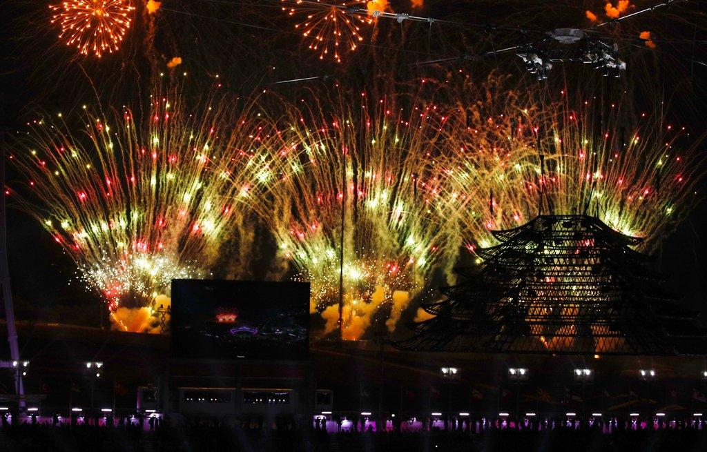 #PyeongChang2018, la spettacolare cerimonia di chiusura delle Olimpiadi invernali. Presidente Thomas Bach: 'Il Cio continuerà con il dialogo di pace anche quando la fiamma olimpica sarà spenta' → https://t.co/NljThNuhwn