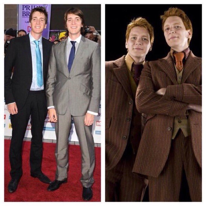 February 25: Happy Birthday, James and Oliver Phelps! They played Fred and George Weasley in the films.