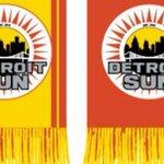 Image for the Tweet beginning: DETROIT SUN FC RUFFNECK SCARVES SEASON TICKET
