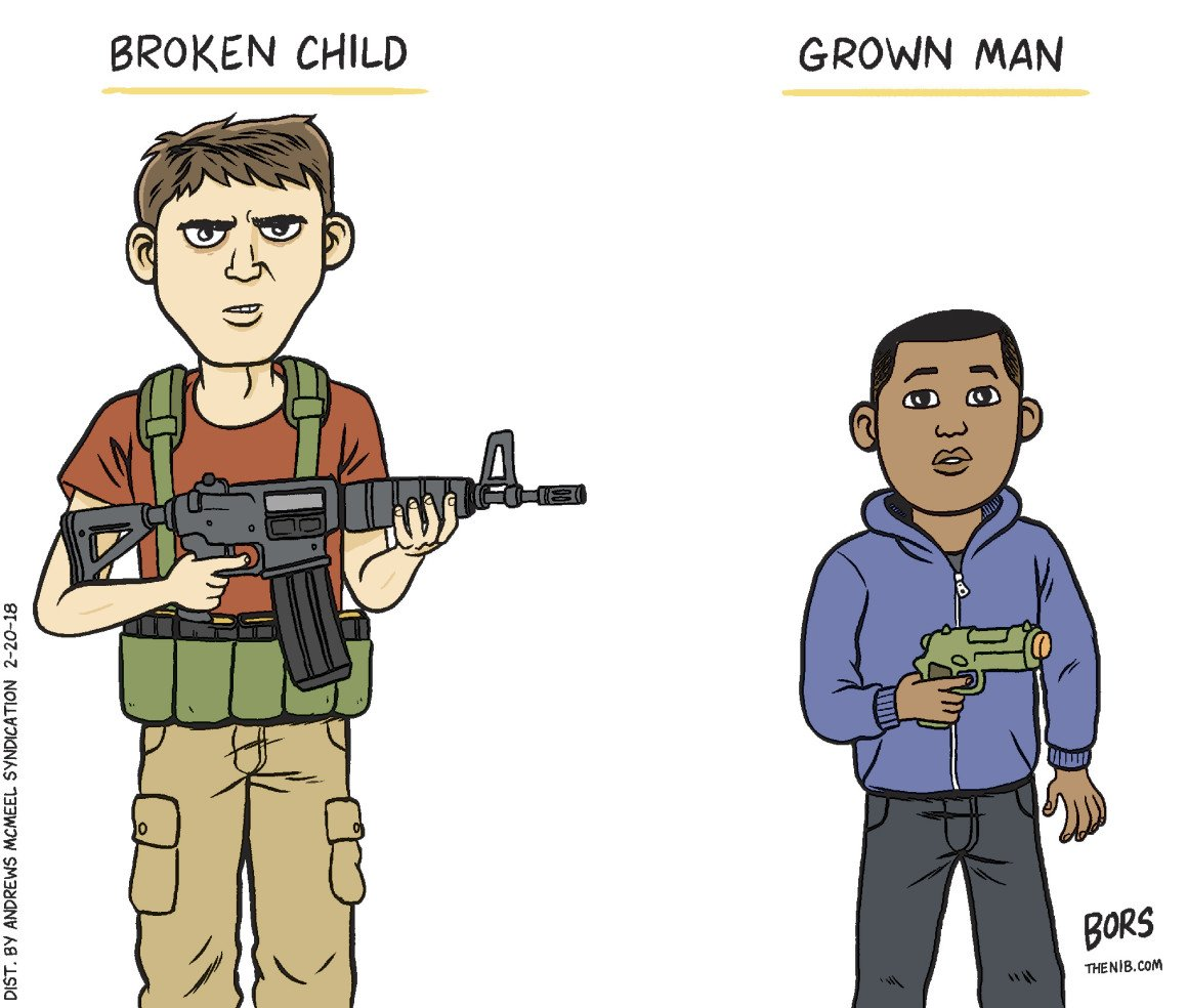 The nation's cartoonists take on the aftermath of the mass shooting in Parkland, Florida. https://t.co/ajuAyUQIo1