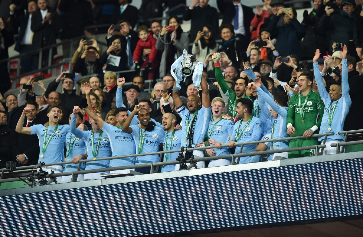 REPORT: @ManCity strolled to a 3-0 win over @Arsenal in the @EFLCup final to earn Pep Guardiola his first trophy at the club: https://t.co/nmuuZBq6t2
