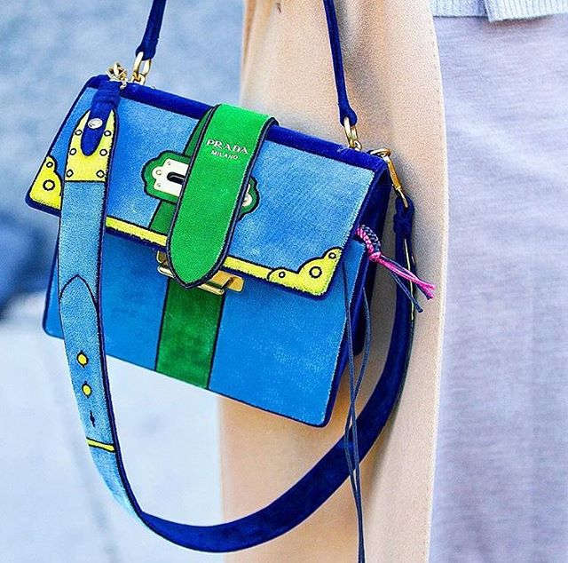 0eceb1a6074b Beautiful colorful velvet! Prada Trompe L'oeil Cahier Velvet Shoulder Large  Bag #prada