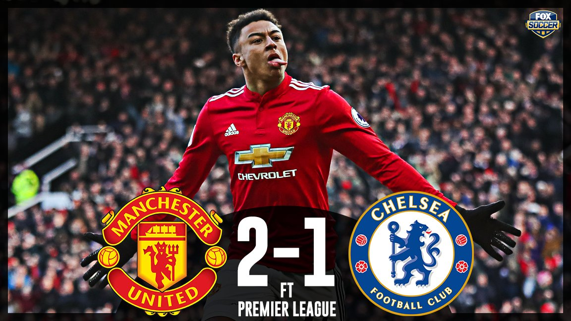 Lukaku and Lingard lead Man United to their 4th straight home win and back into 2nd place.   Chelsea are 2 points out of the top 4.