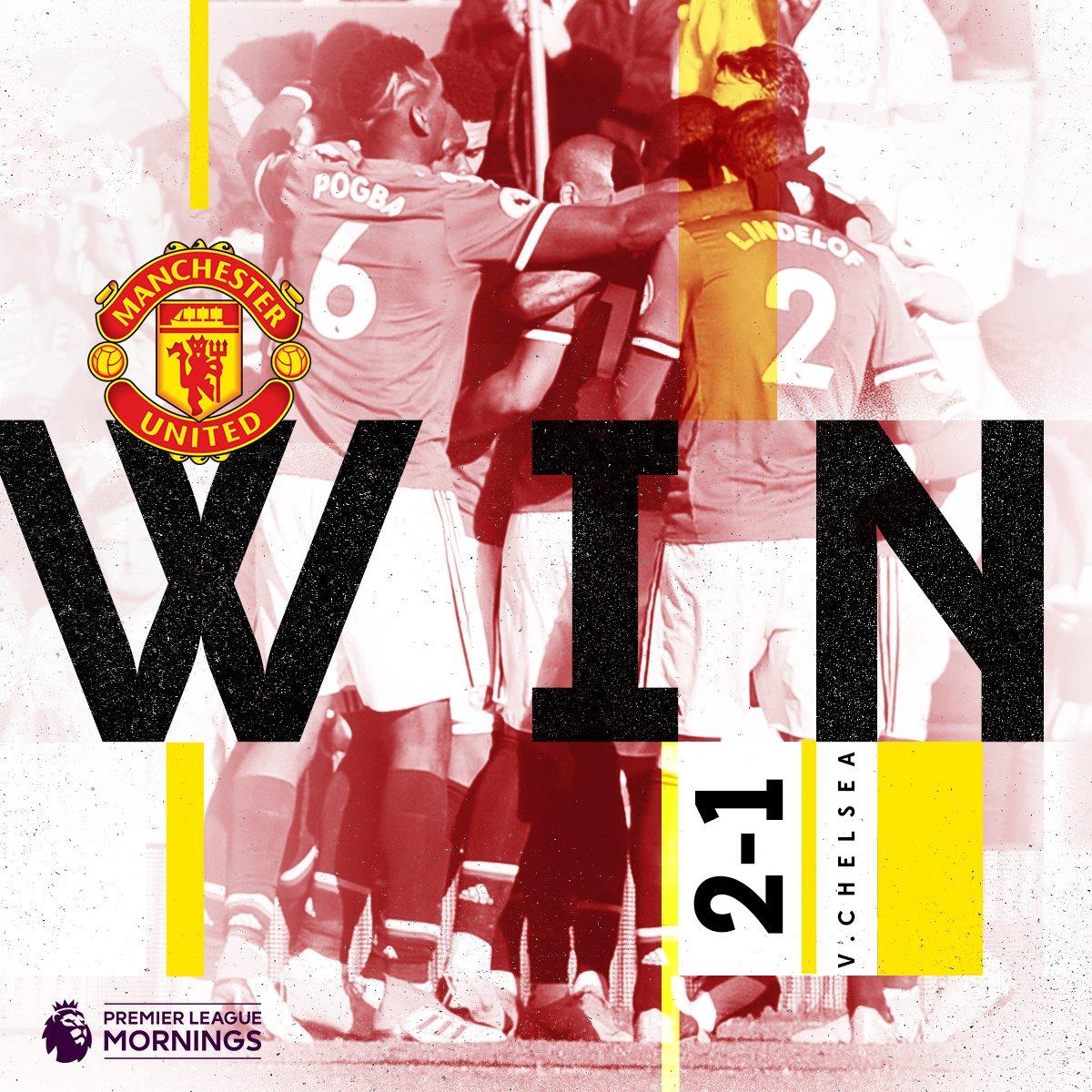 .@ManUtd defeat Chelsea 2-1! 🔴  #MUNCHE