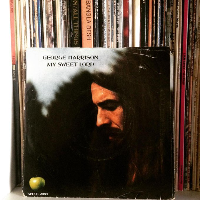 Happy birthday, George Harrison. A gentleman, a master musician, a gentle soul= hero.