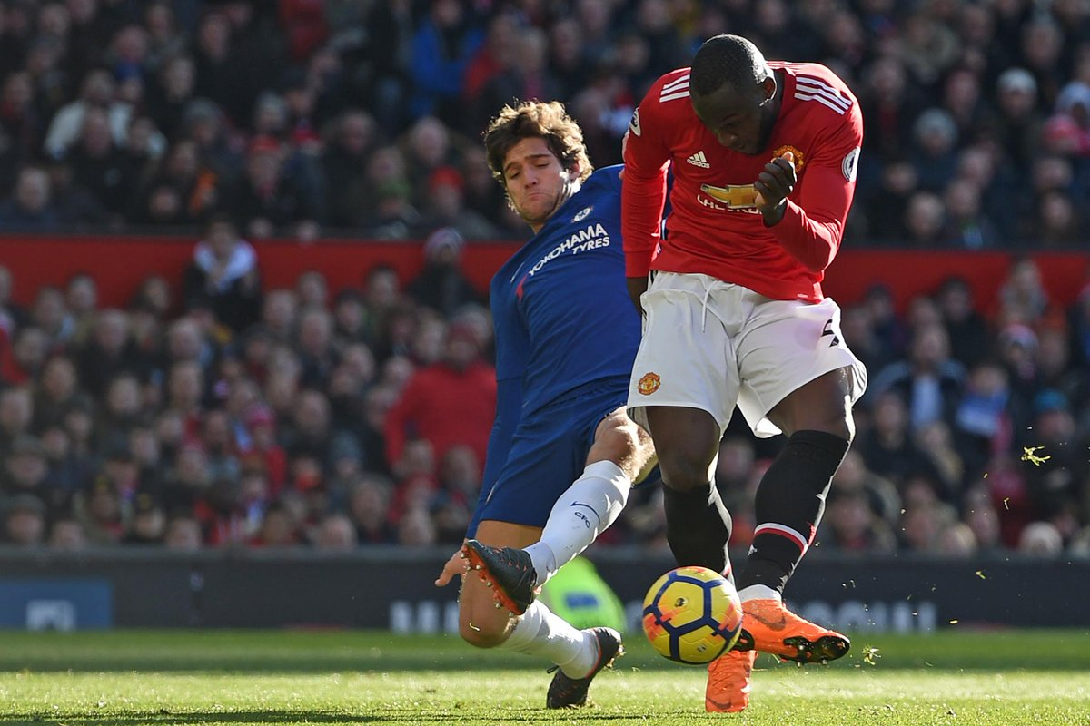 FULL-TIME Man Utd 2-1 Chelsea  Romelu Lukaku and Jesse Lingard both net as the hosts record a fine comeback victory  #MUNCHE