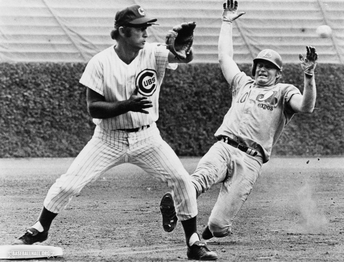 When @Cubs Ron Santo retired, he held NL records for most assists in a season by a third baseman, most double plays by a third baseman in a career and most chances accepted at third base. He was born 78 years ago today! baseballhall.org/hall-of-famers…