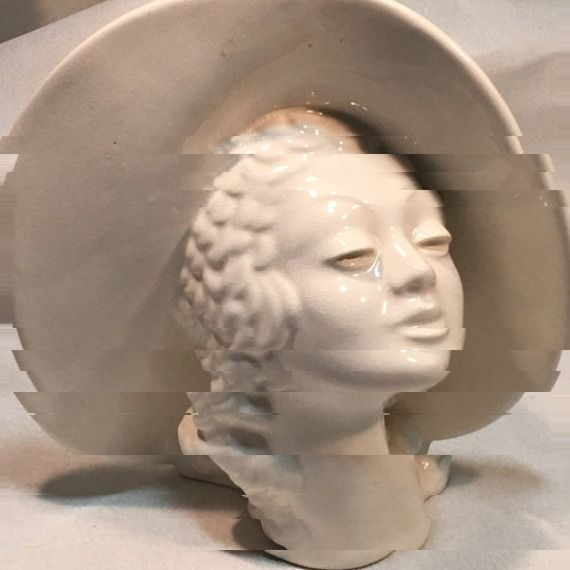 For An Appointed Time On Twitter Lady Head Vase Collectible White