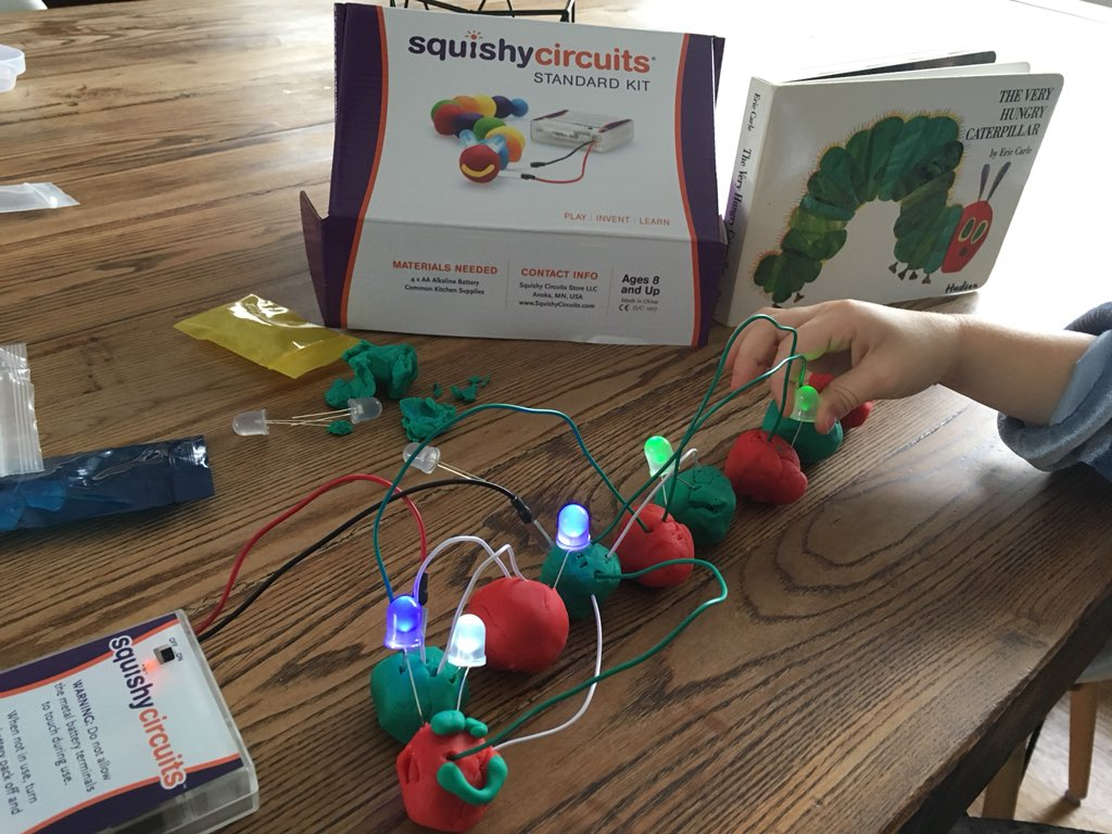 Squishy Circuits Squishycircuits Twitter How To Make And Batteries Dough