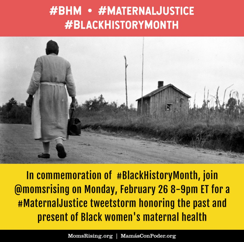 February is #BlackHistoryMonth! Learn about Black women's maternal history and celebrate the work of Black birth activists at #MaternalJustice this Monday, February 26 8-9pm ET #BHM #BlackHistory