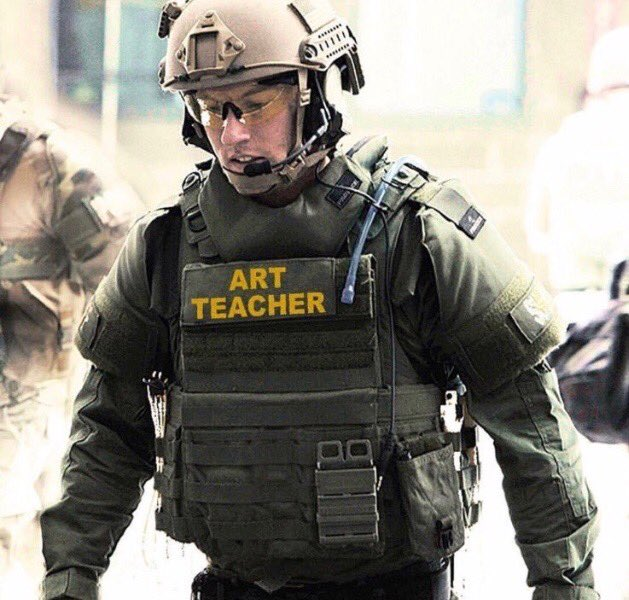 Not just teachers! Arm the the LunchLady & that guy who does the morning announcements over the intercom (have him fire off a round just 2 show he means business). Bring back driver ed, civics & handwriting & arm them. Arm the marching band! If they can march, they can shoot!