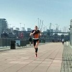 3rd win this year at Tri show London 10k - big lead at 9.5k! Had to run fast before new #CherryBakewell sold out! #TORQFuelled @TORQfitness