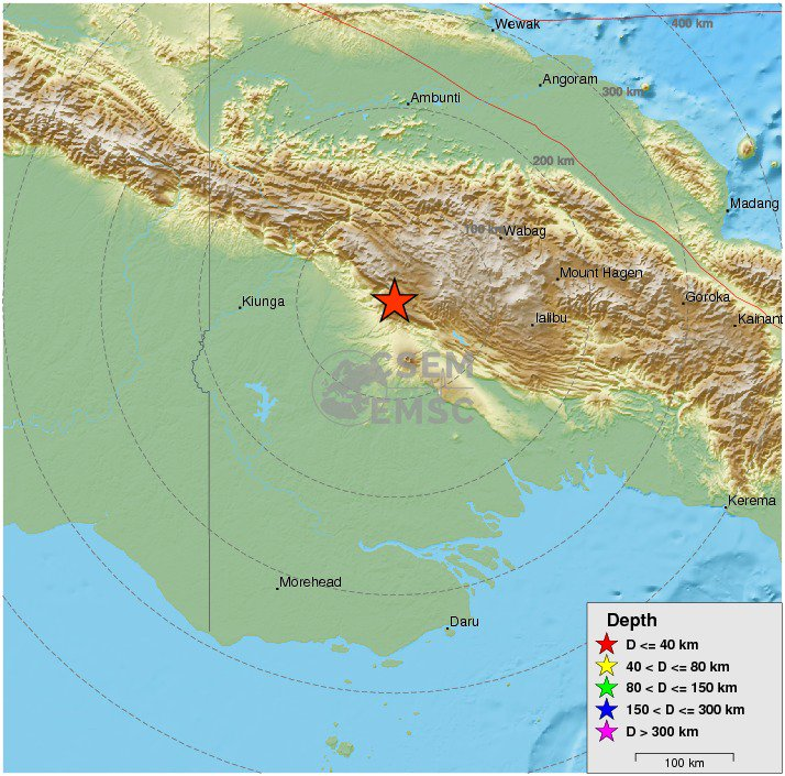 major #earthquake shakes New Guinea, Papua New Guinea 8 min ago. More info at: https://t.co/HtPQp2TBkO