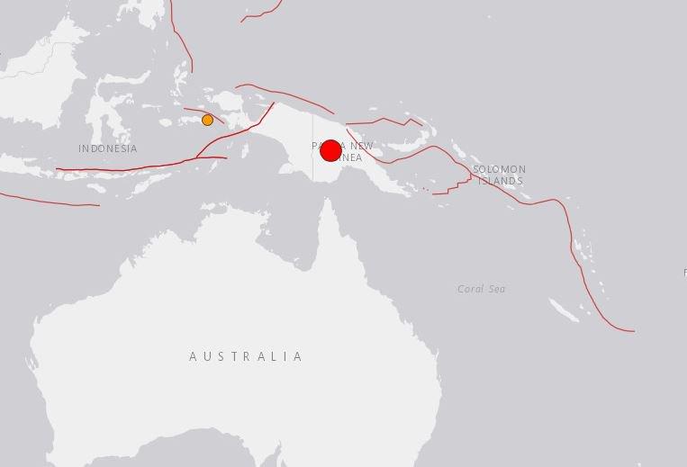 🔴 AHORA | Sismo magnitud 7,6 se percibe en Papúa Nueva Guinea.