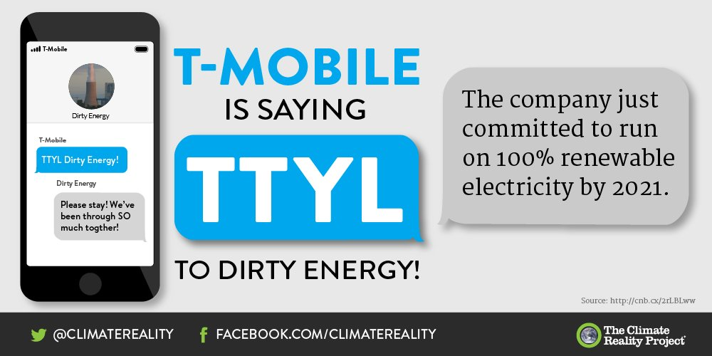Thank you for standing up for Mother Earth, @TMobile!