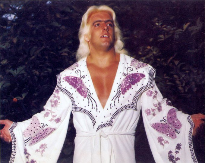 Happy birthday to the dirtiest player in the game Ric Flair. 16x world champion woooooo.