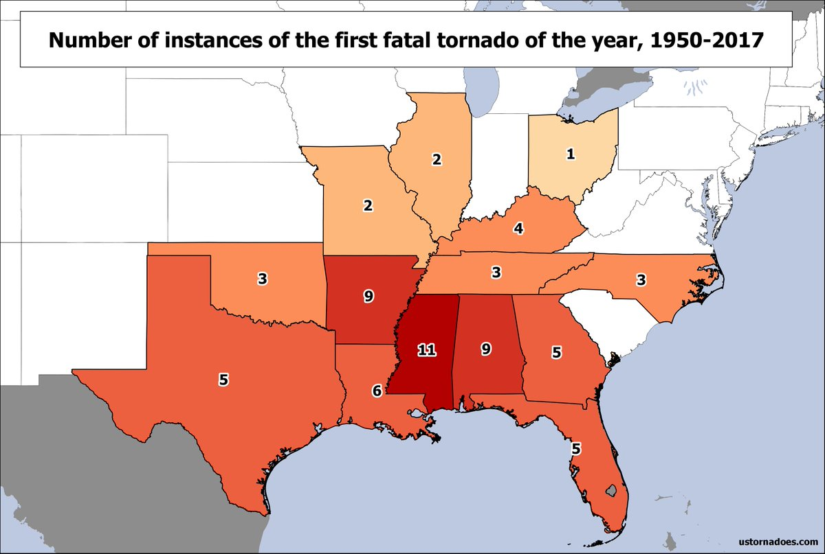 Us Tornadoes On Twitter Looks Like 2018s First Fatal Tornado Of - Us-tornado-map