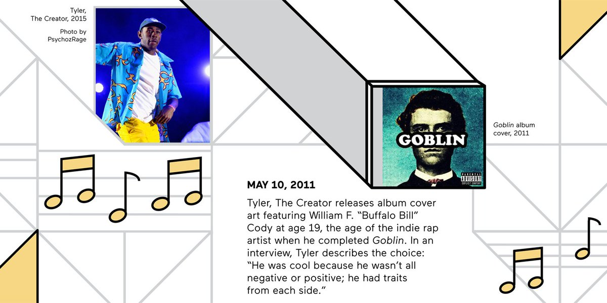 Americanindianmuseum On Twitter Above Tyler The Creator And Goblin Album Cover From Americans A Detail Of The Timeline Tracing References To The Battleoflittlebighorn To The Present Day Below That Section Of The Exhibition S