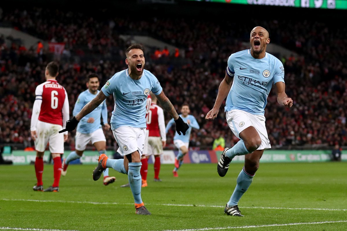 Vincent Kompany's game by numbers vs. Arsenal:  60 touches 41 (93%) passes completed 5 clearances 2 aerial duels won 1 take-on completed 1 tackle won 1 goal  Captain's performance.