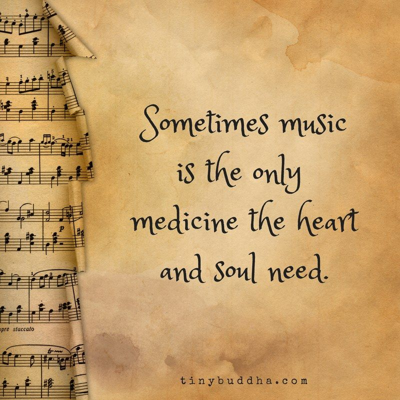 Sometimes music is the only medicine your heart and soul need.
