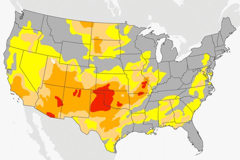 ICYMI: Drought conditions have expanded across the United States during the past six months. https://t.co/j6JWzkmrt4