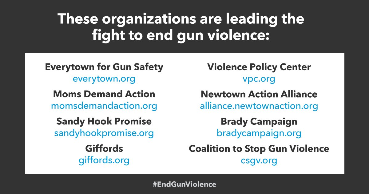 Join @Everytown @MomsDemand @sandyhook @smartgunlaws    @VPCinfo @NewtownActioni@Bradybuzzn@CSGV the fight to . #EndGunViolence#NeverAgain