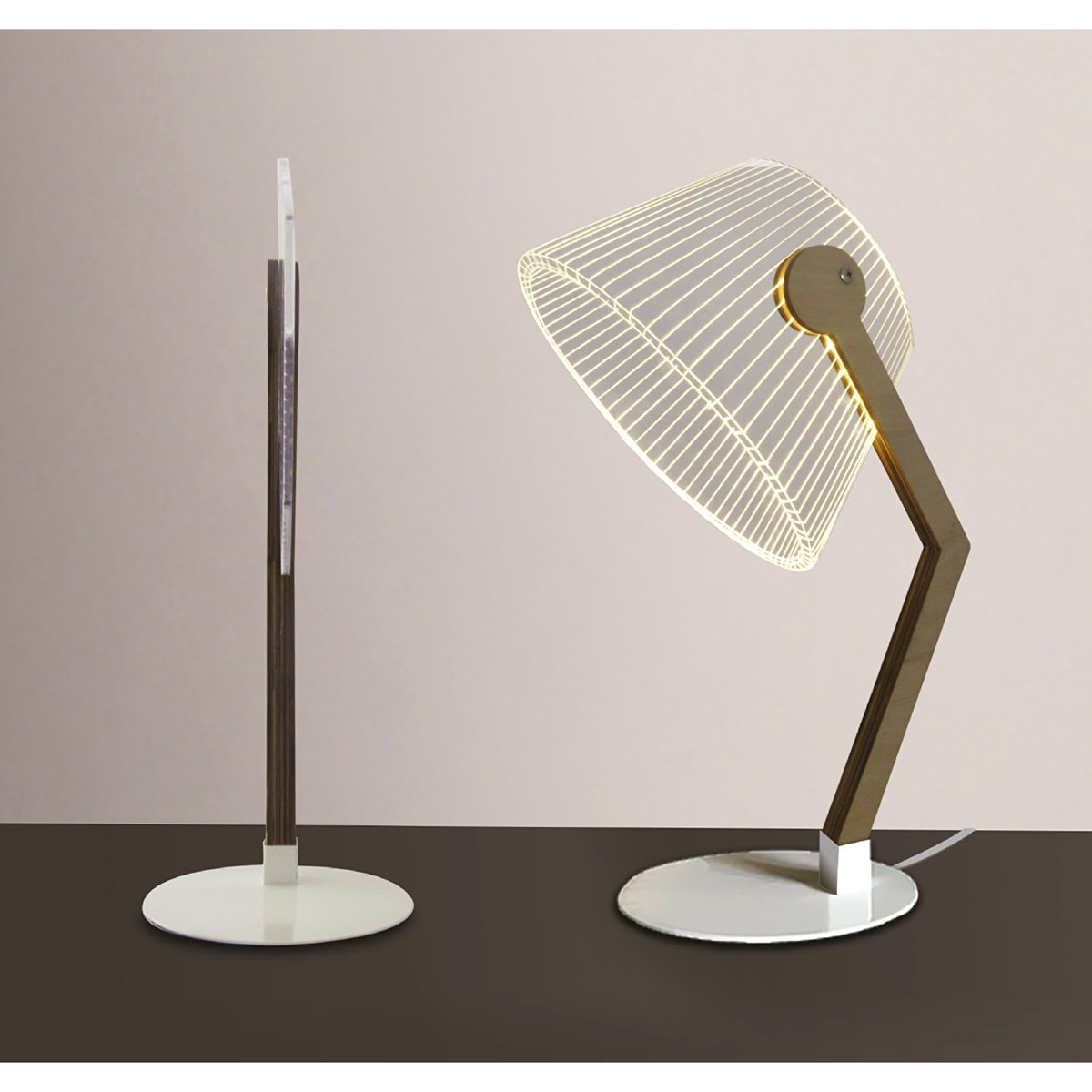 Science meets design in this modern and unique 3D Angle Light. When sat on your desk the sleek design of the light creates an optical illusion which tricks your eye into thinking it's a 3D lamp https://t.co/Vd0a1nGZIQ