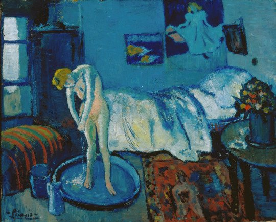 The Retweet Train Show presents  The Blue Room (1901) Pablo Picasso (Spanish, b.1881 d.1973)