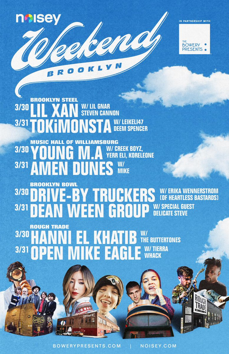 Ready for the best weekend of the year? ☄️@YoungMAMusic  ☄️@lilxanfuhyobih ☄️@drivebytruckers  ☄️@TOKiMONSTA   ☄️@amendunes   ☄️@Mike_Eagle  ☄️@HanniElKhatib ☄️+ many more  Tickets +  Details ➡️➡️➡️https://t.co/sf6ULXCKWJ
