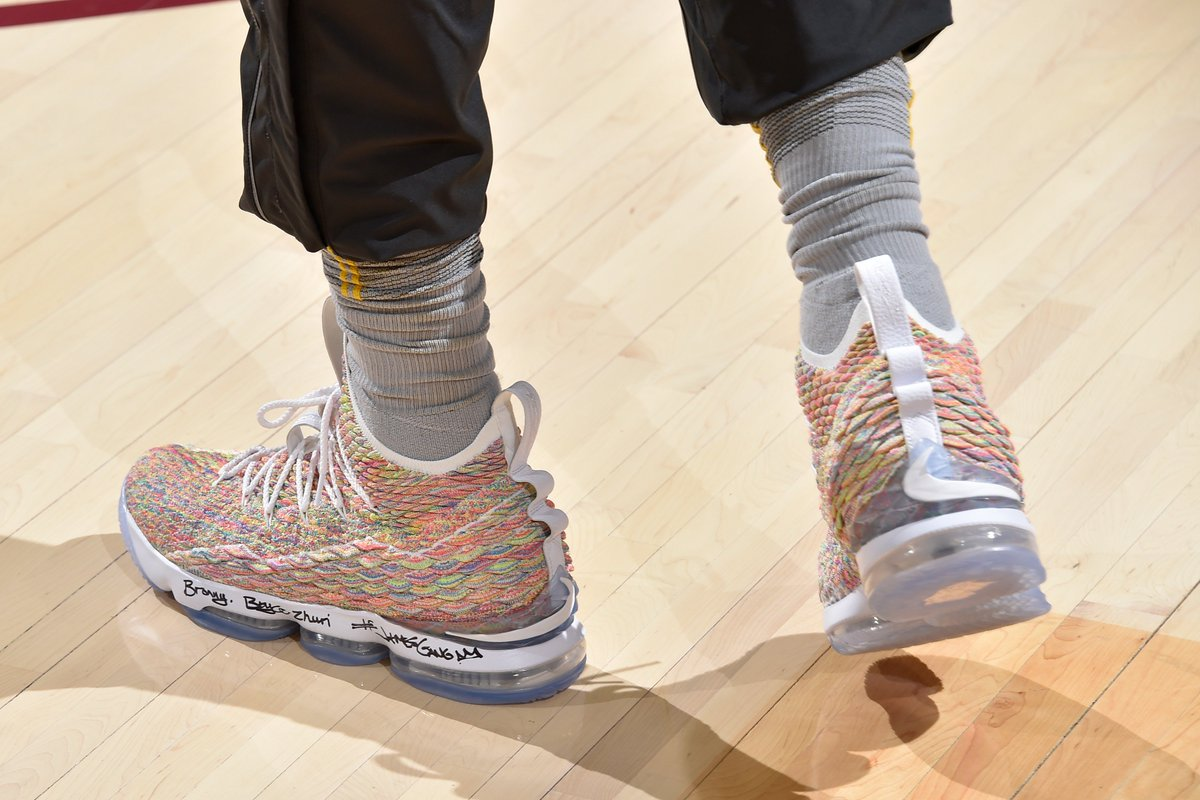 A new multicolor LeBron 15 is making its debut today.