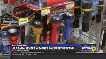 Alabama's tax-free weekend for severe weather supplies ends tonight. More details on what you can stock up on here.>>>https://t.co/vVzQLihVov