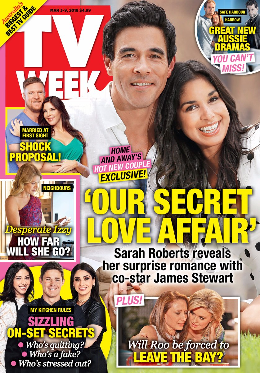 In This Weeks Issue Of Tv Week S Sarah Roberts Opens Up About Her Surprise Romance With James Stewart Plus A Shock Proposal Leaves Contestants Reeling