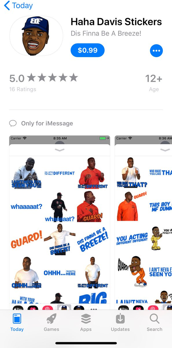 Download the haha davis sticker app today link below this a app app haha davis stickers by rekure