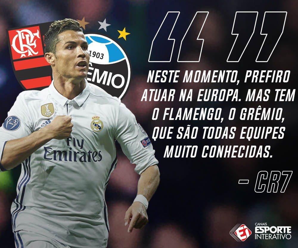 QUE MORAL! Em entrevista ao canal Desimpedidos, Cristiano Ronaldo lembra de dois clubes brasileiros!