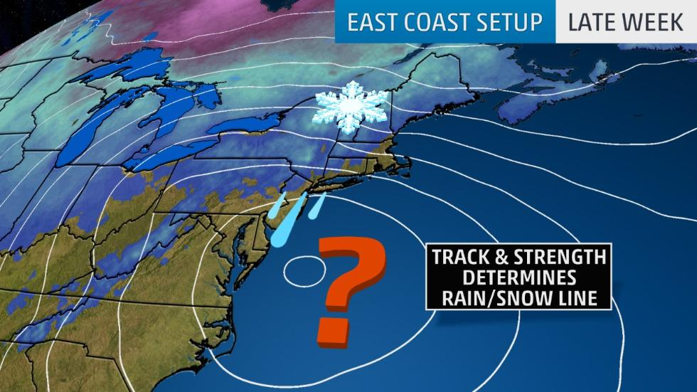 Our next wintry system could spread #snow from the West to the Midwest, then a Northeast coastal storm is possible late in the week: wxch.nl/2BS6POV