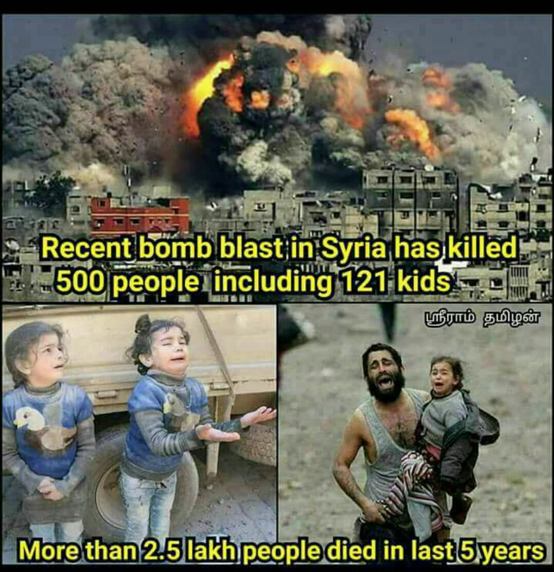 Please don't kill the innocent people in Syria. #SaveSyrianChildren #peace