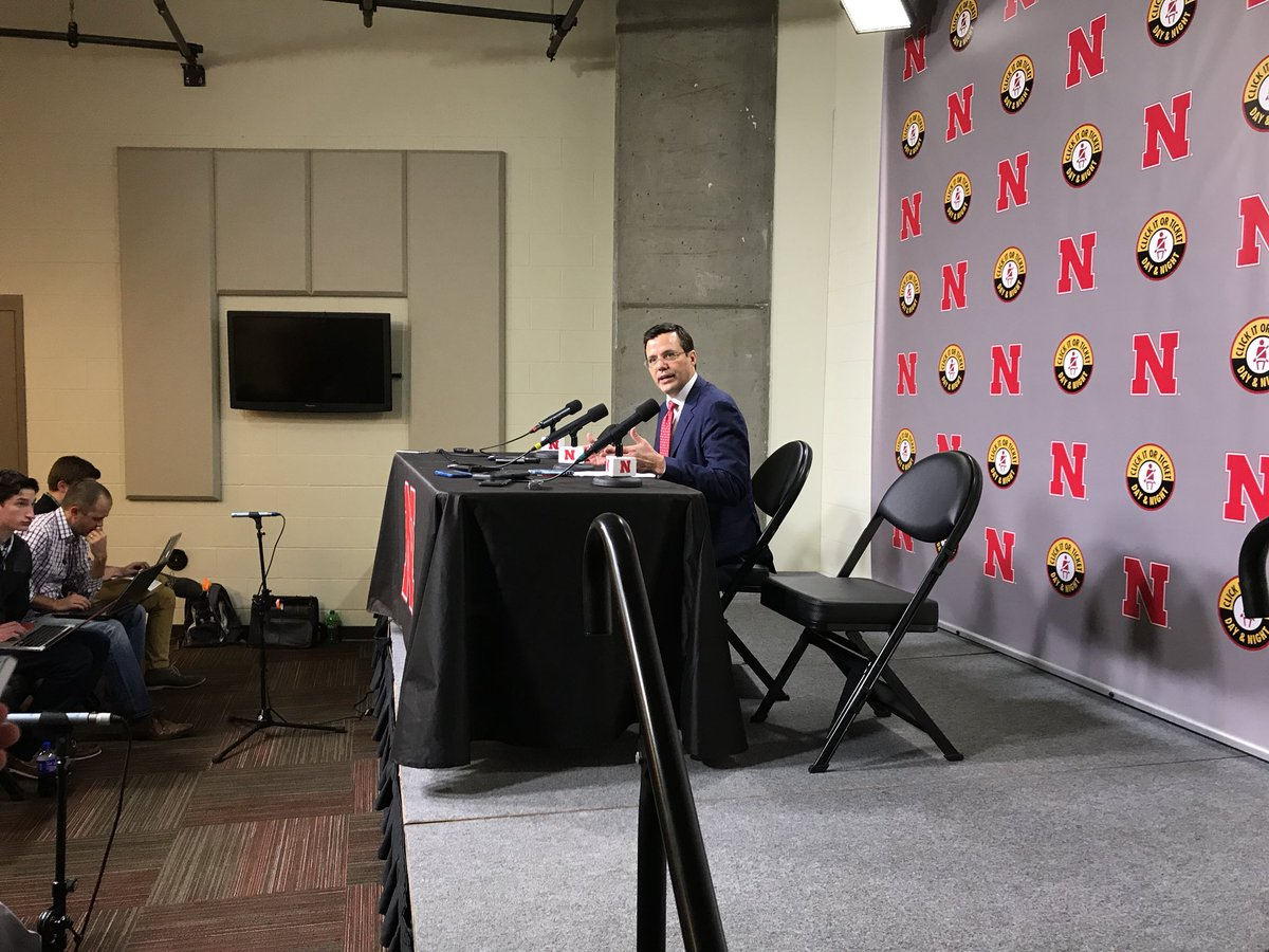"""Latest @ESPNLunardi Bracketology moves Nebraska back up into First Four Out. Coach Tim Miles says his group looks like a tourney team: """"I don't think Quad 1 is the holy grail of the whole thing."""""""