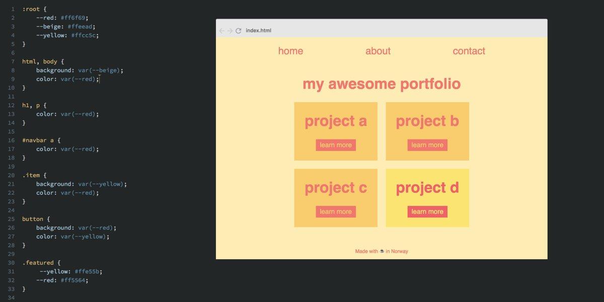 怎么使用 CSS 变量,简单地创建样式主题 #设计入门 #前端 // How to easily create themes with CSS Variables https://t.co/Prq7Rkmypd https://t.co/kIwwo5SpkN 1