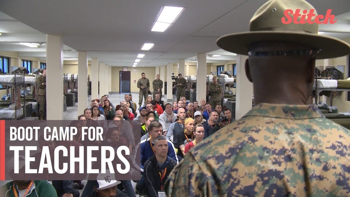 Educators learn the ropes at Marine Corps boot camp https://t.co/Um4Po6Km69