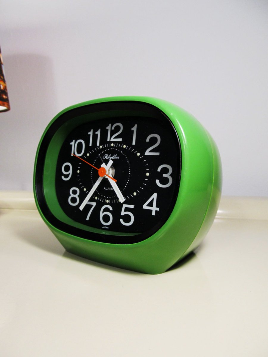 "MaLanterne on Twitter ""Vintage Alarm Clock Nightstand Clock Space"