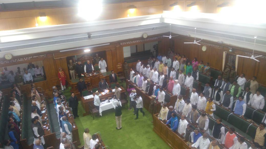 Governor #SatyaPalMalik addressing joint session of #Bihar state Legislature.  #AIRPics: K K Lal